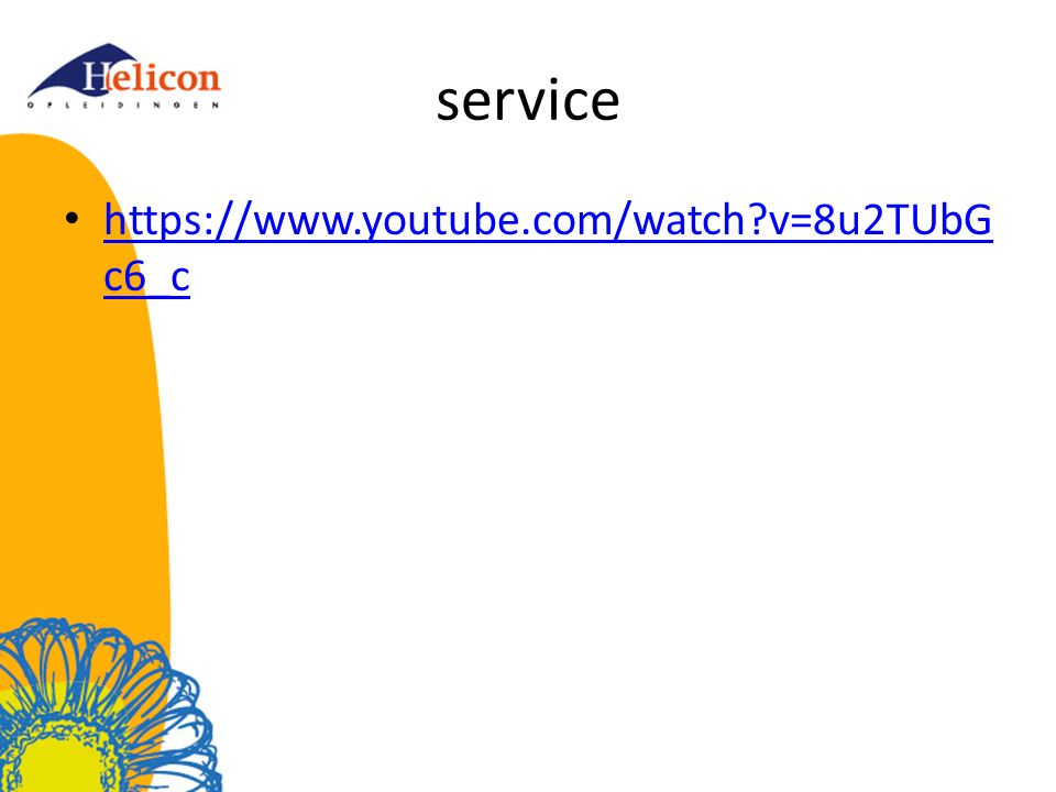 service https://www.youtube.com/watch v=8u2TUbGc6_c