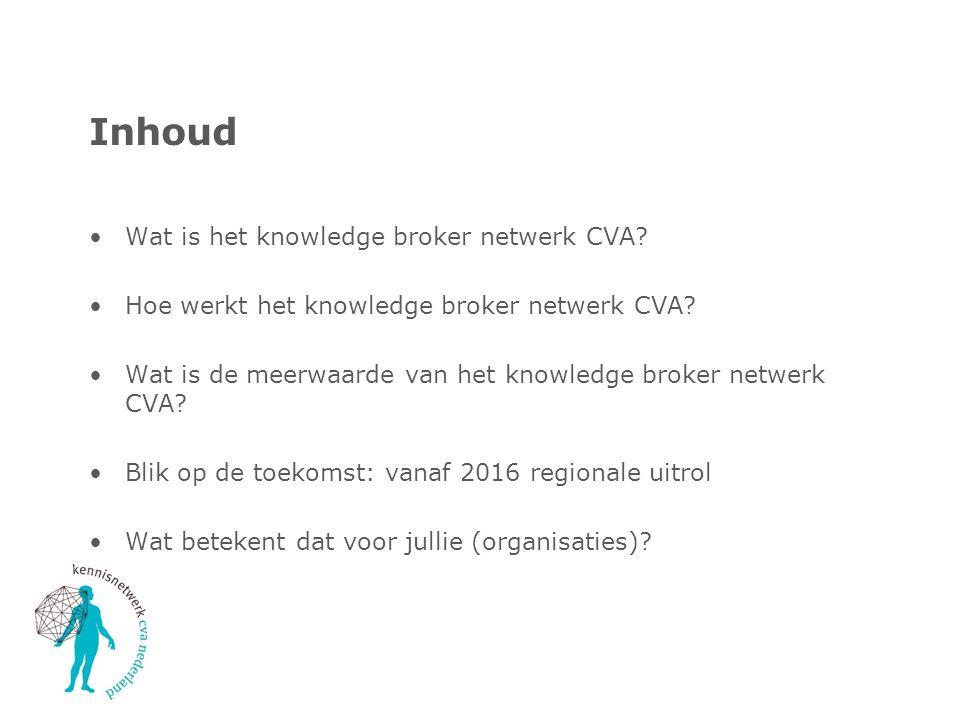 Inhoud Wat is het knowledge broker netwerk CVA