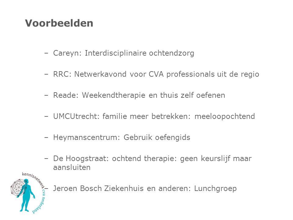 Voorbeelden Careyn: Interdisciplinaire ochtendzorg