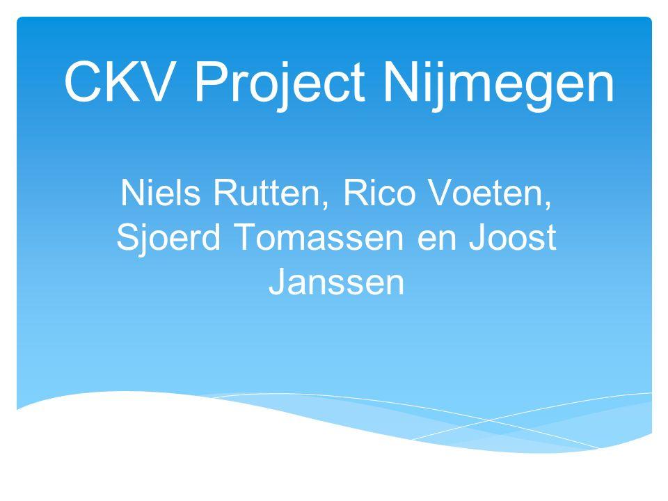 Niels Rutten, Rico Voeten, Sjoerd Tomassen en Joost Janssen
