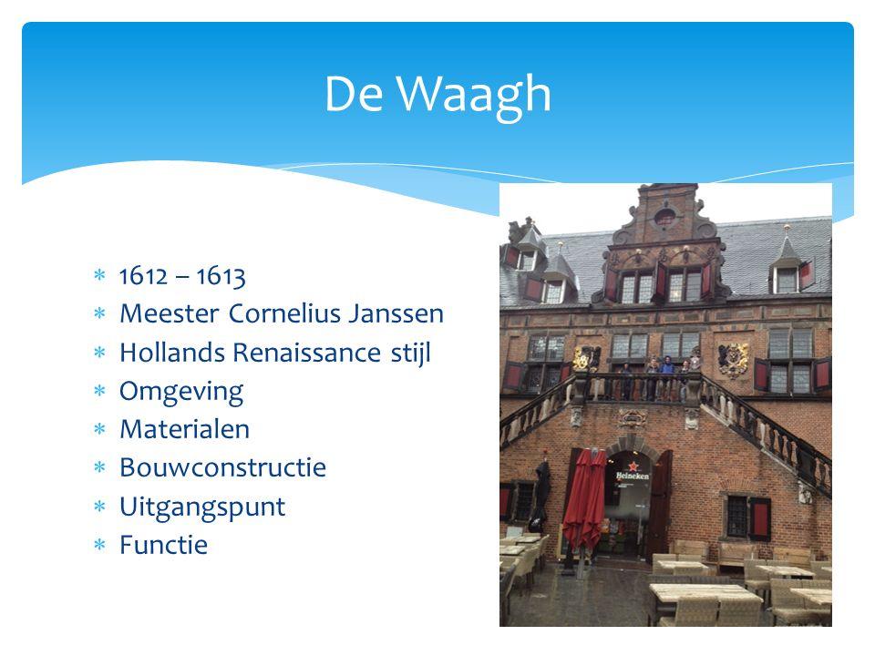 De Waagh 1612 – 1613 Meester Cornelius Janssen