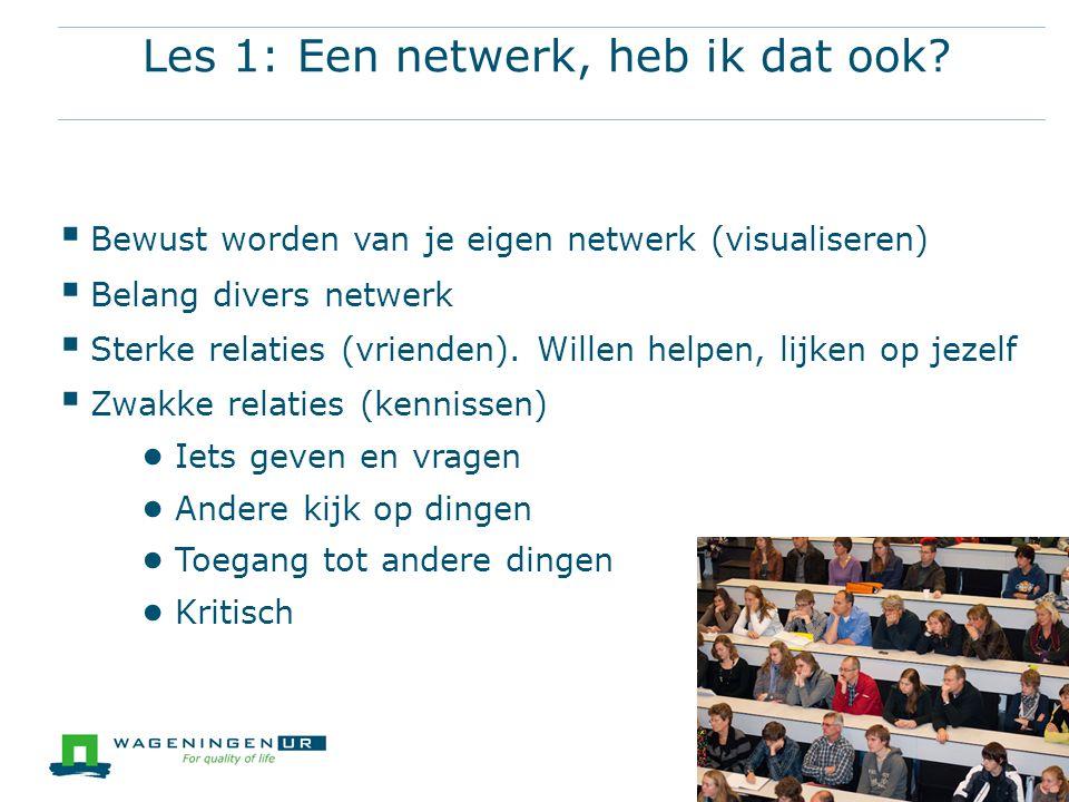 Les 1: Een netwerk, heb ik dat ook