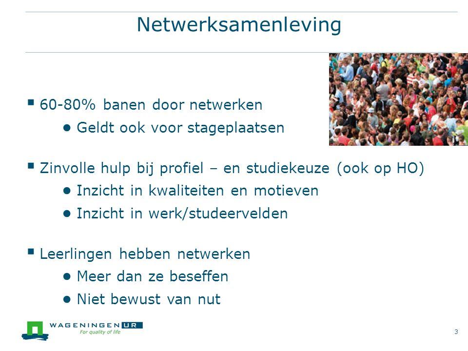 Netwerksamenleving 60-80% banen door netwerken