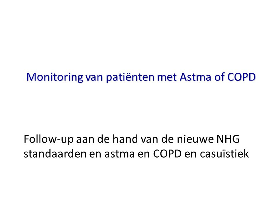 Monitoring van patiënten met Astma of COPD