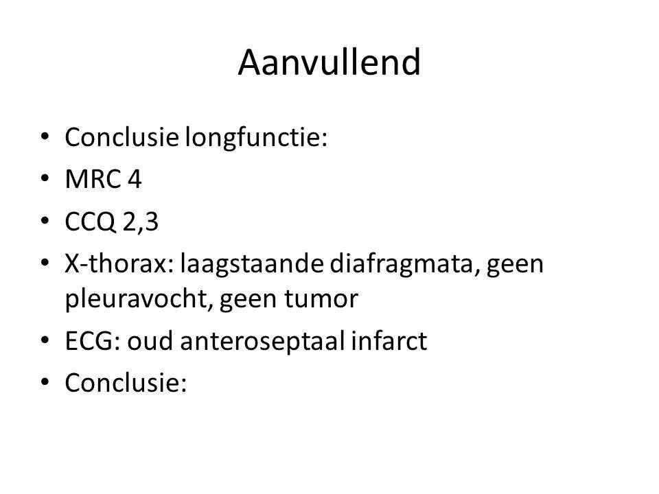 Aanvullend Conclusie longfunctie: MRC 4 CCQ 2,3