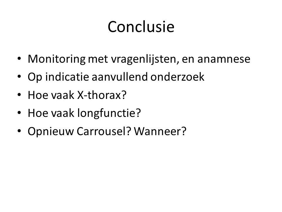 Conclusie Monitoring met vragenlijsten, en anamnese