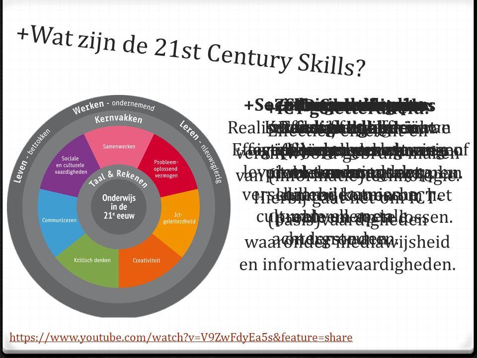 +Probleem oplos vaardigheden: +Sociale en culturele vaardigheden: