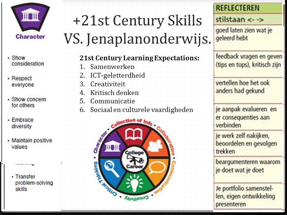 +21st Century Skills VS. Jenaplanonderwijs.