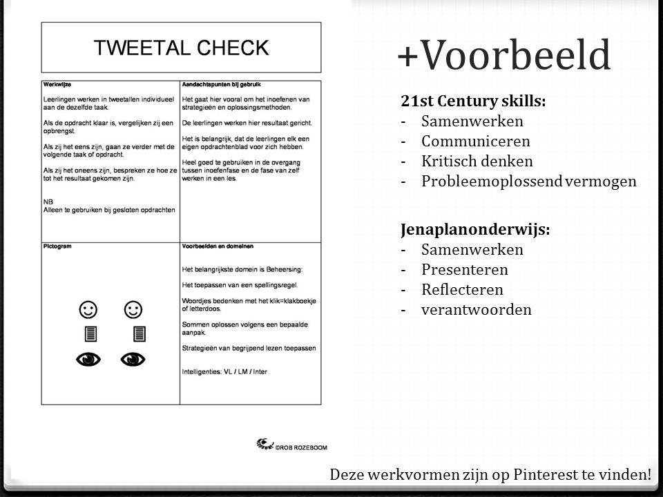 +Voorbeeld 21st Century skills: Samenwerken Communiceren