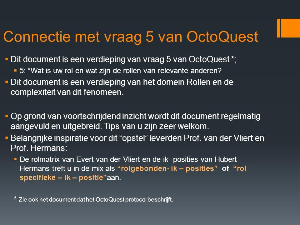 Connectie met vraag 5 van OctoQuest