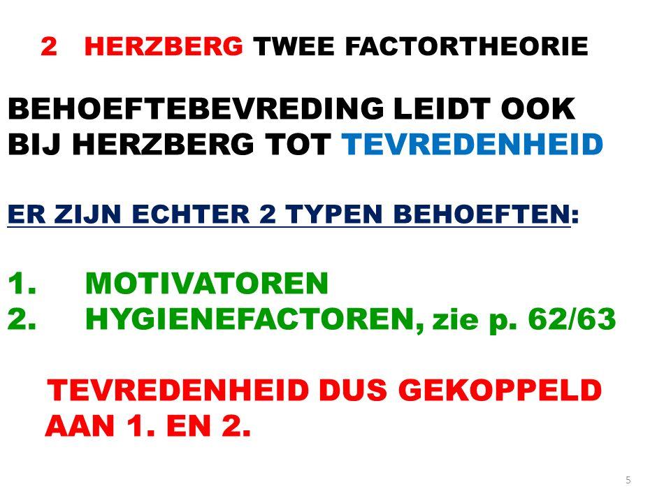 2 HERZBERG TWEE FACTORTHEORIE