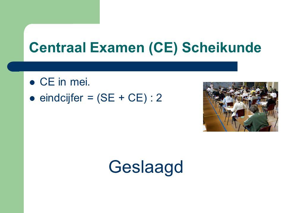 Centraal Examen (CE) Scheikunde