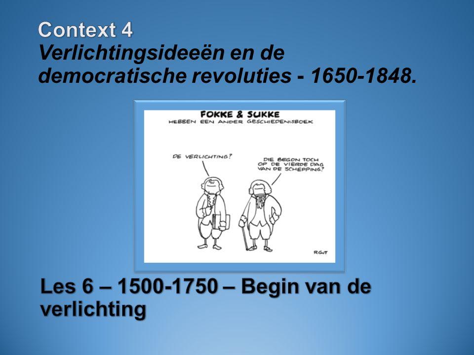 context 4 verlichtingsideen en de democratische revoluties