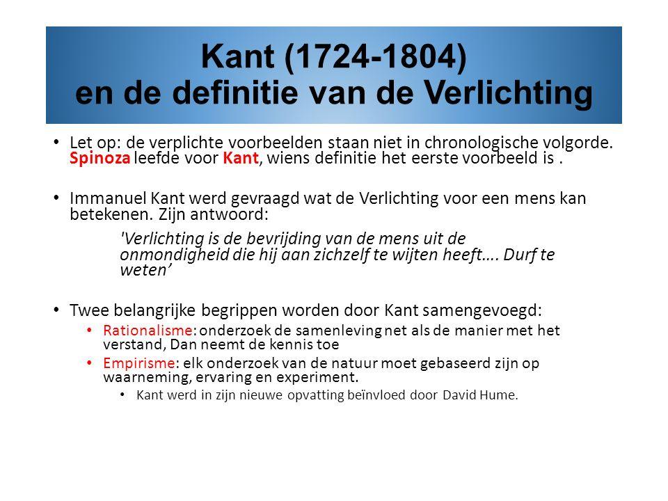 Kant (1724-1804) en de definitie van de Verlichting