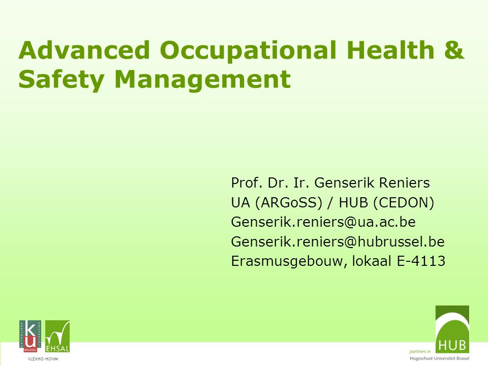 Advanced Occupational Health & Safety Management
