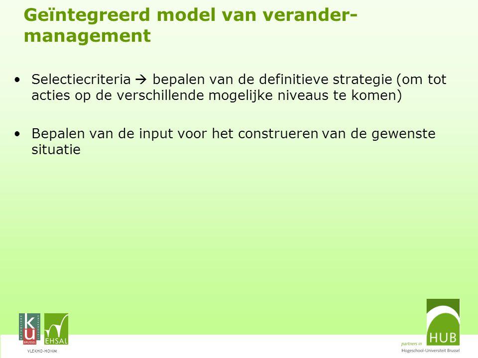 Geïntegreerd model van verander-management