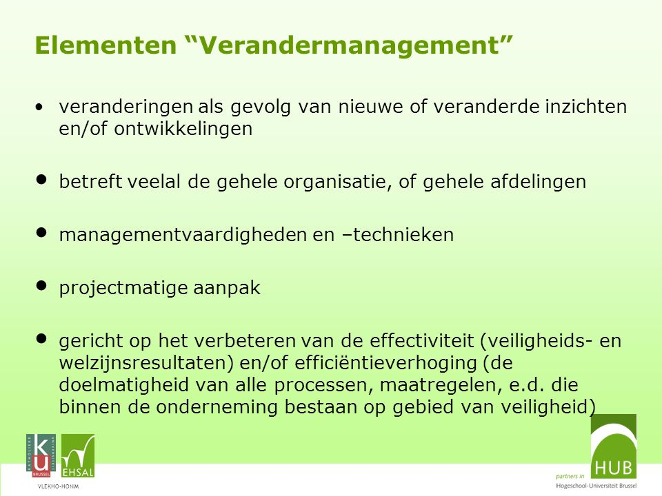 Elementen Verandermanagement