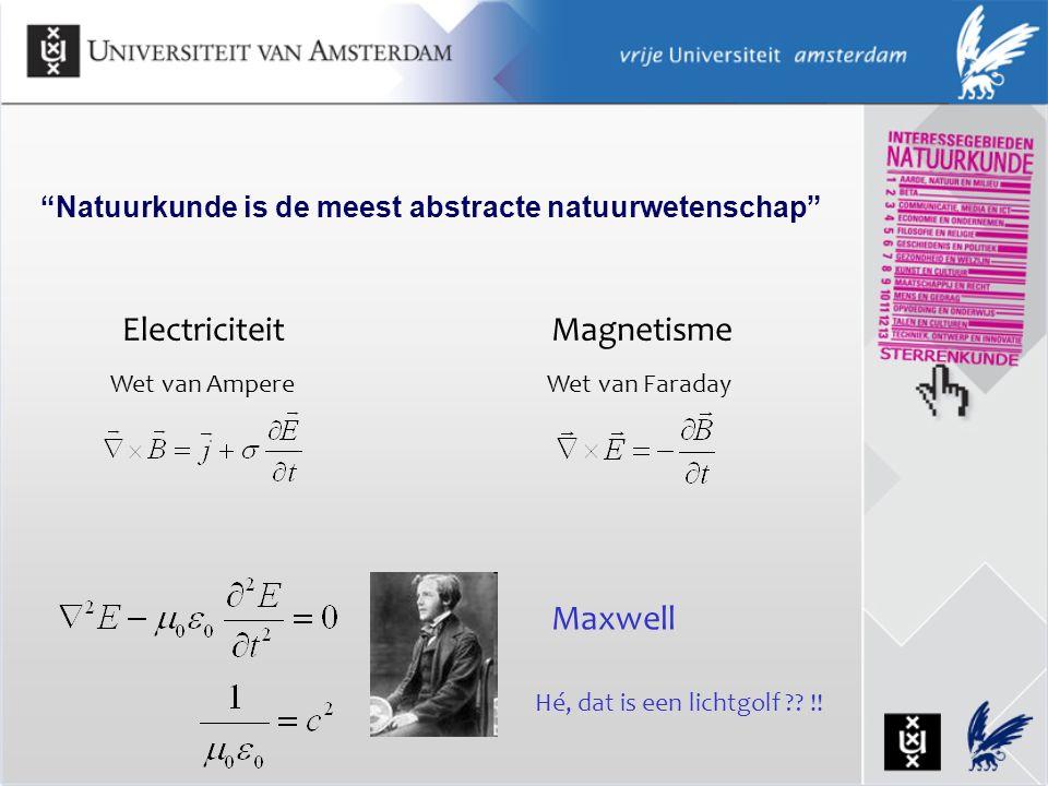 Natuurkunde is de meest abstracte natuurwetenschap