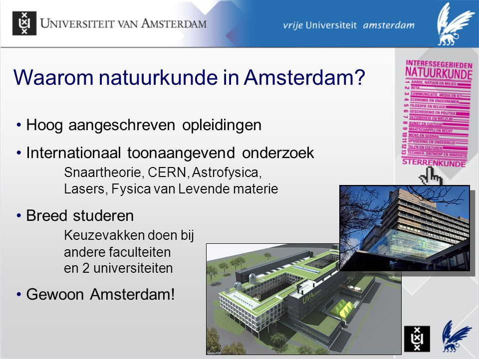 Waarom natuurkunde in Amsterdam