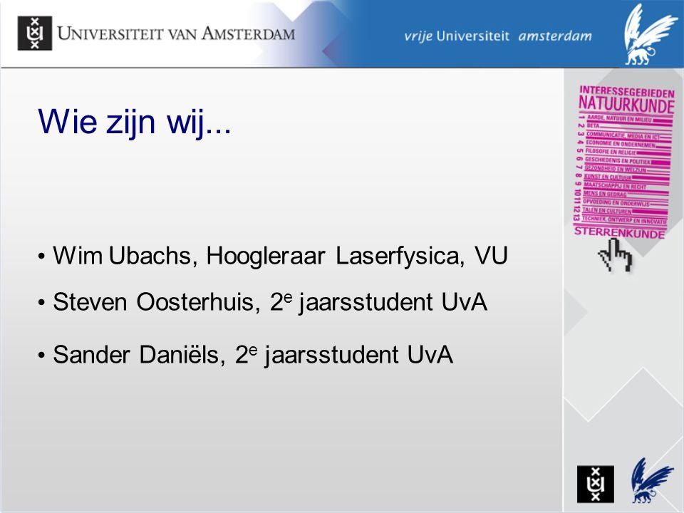 Wie zijn wij... Wim Ubachs, Hoogleraar Laserfysica, VU