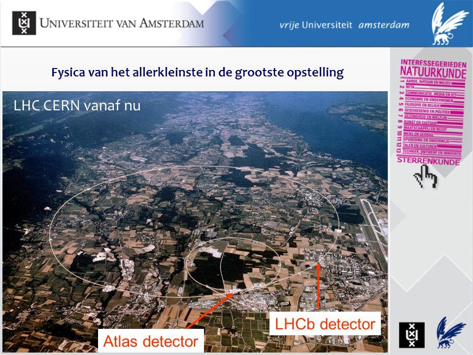 LHC CERN vanaf nu LHCb detector Atlas detector