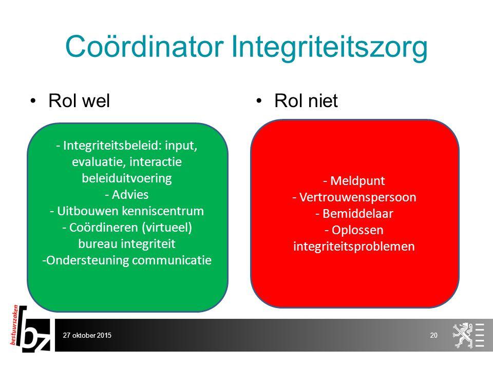 Coördinator Integriteitszorg