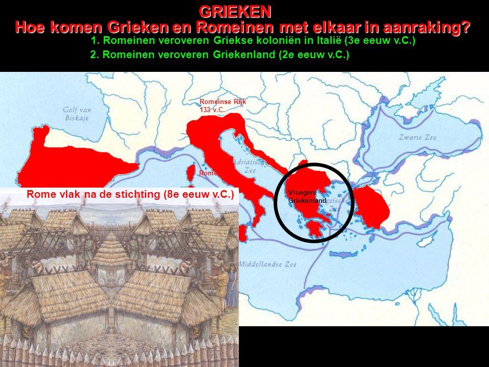 Hoe komen Grieken en Romeinen met elkaar in aanraking