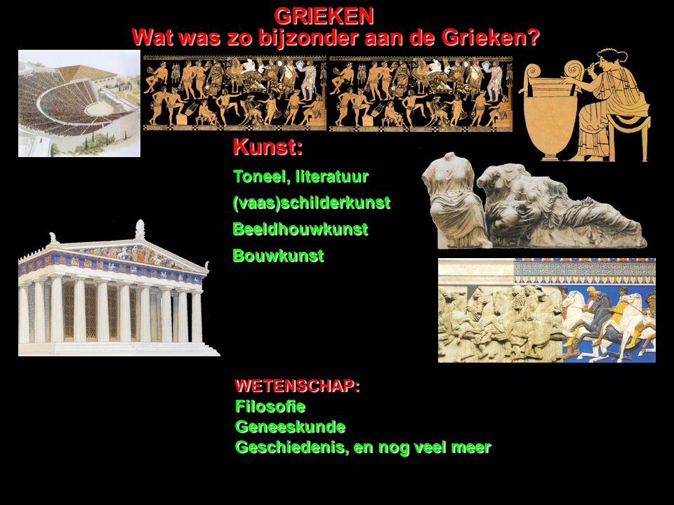 Wat was zo bijzonder aan de Grieken