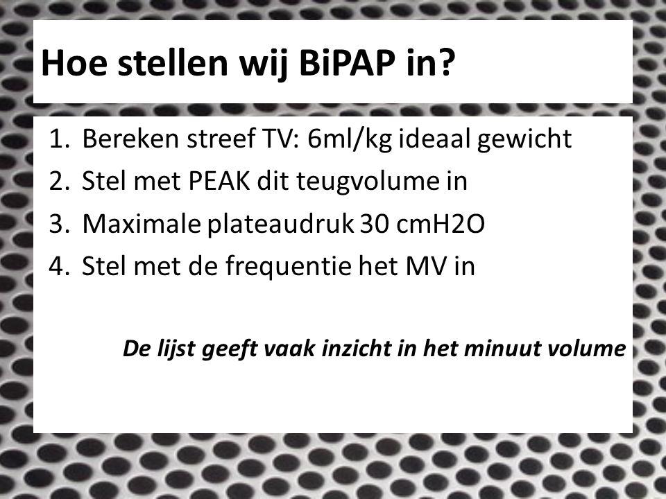 Hoe stellen wij BiPAP in