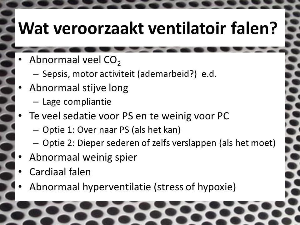 Wat veroorzaakt ventilatoir falen