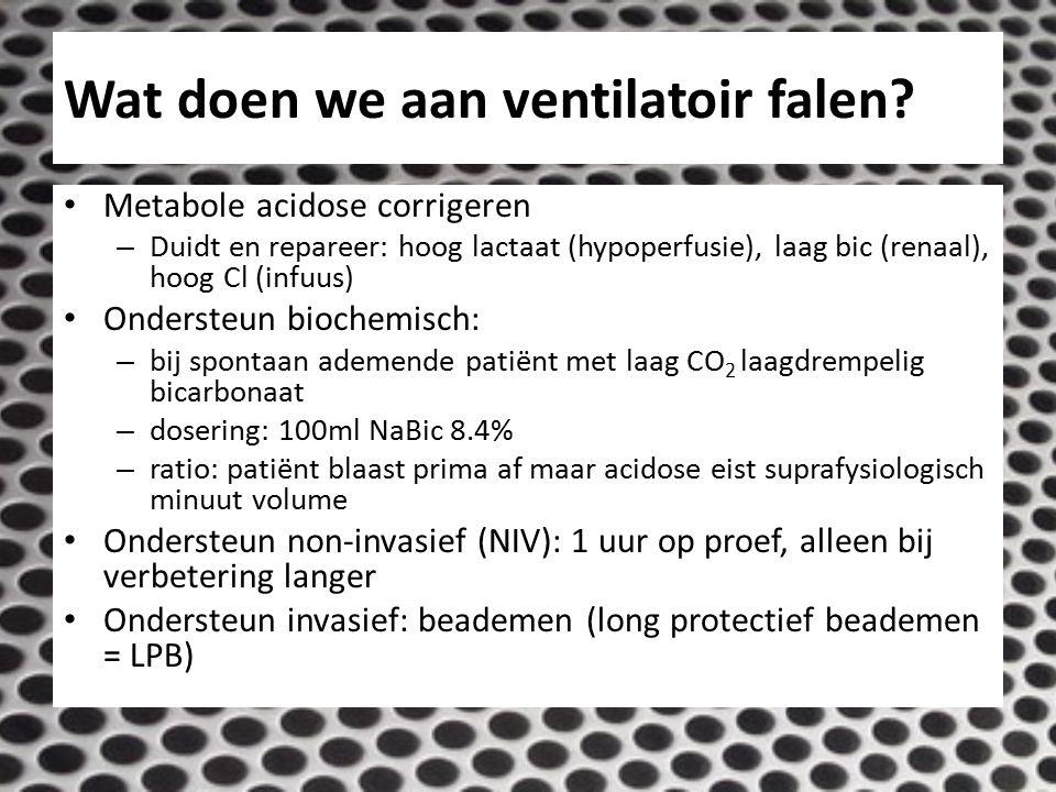 Wat doen we aan ventilatoir falen