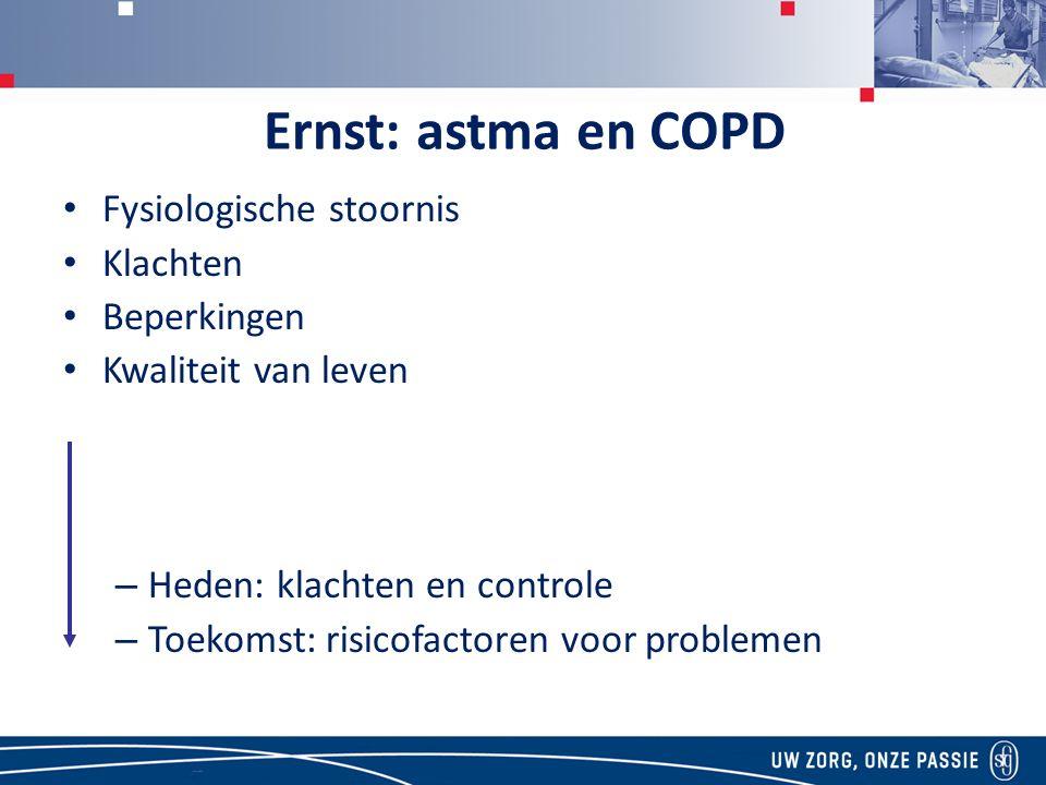 Ernst: astma en COPD Fysiologische stoornis Klachten Beperkingen