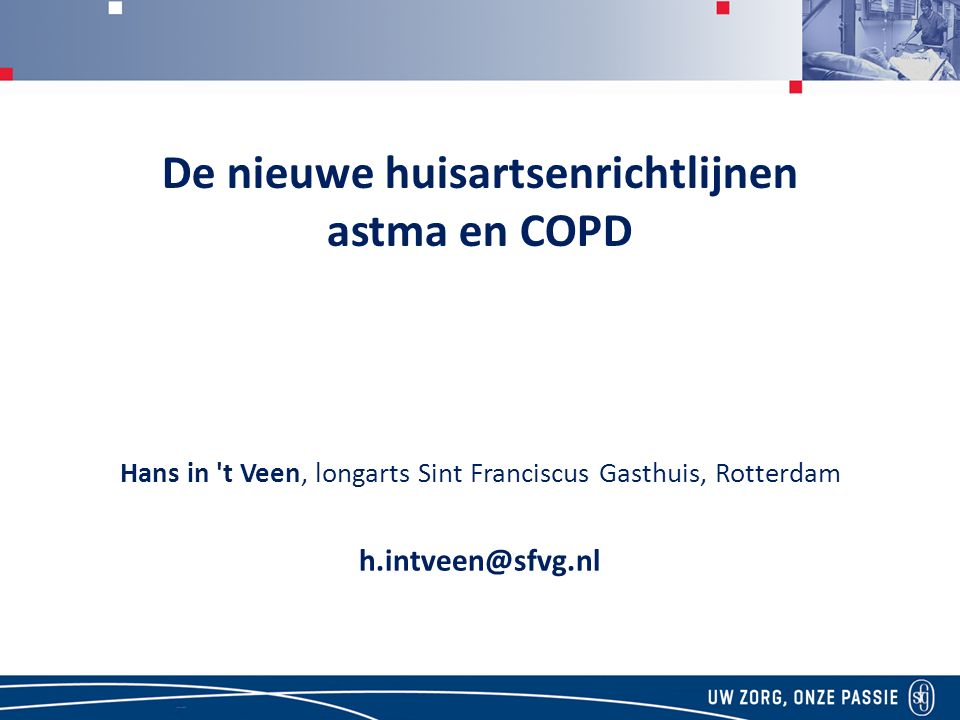 De nieuwe huisartsenrichtlijnen astma en COPD