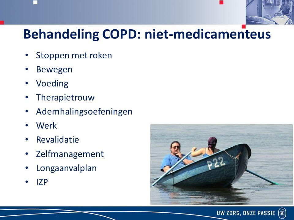Behandeling COPD: niet-medicamenteus