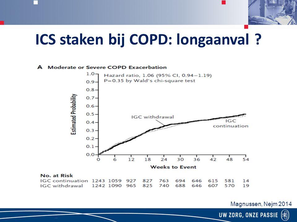 ICS staken bij COPD: longaanval