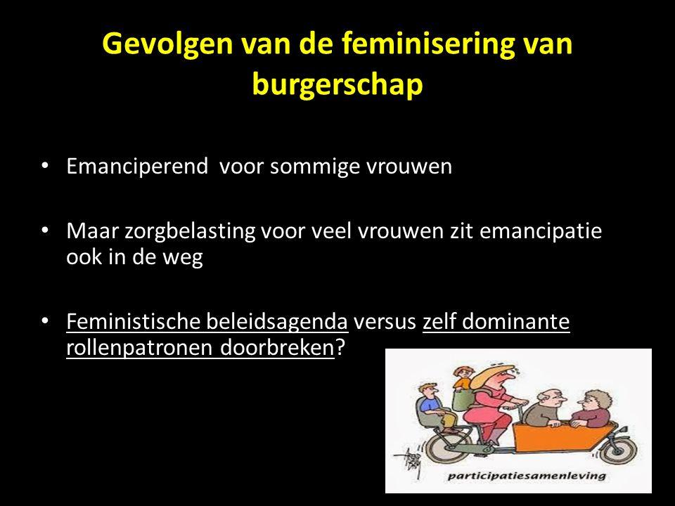 Gevolgen van de feminisering van burgerschap