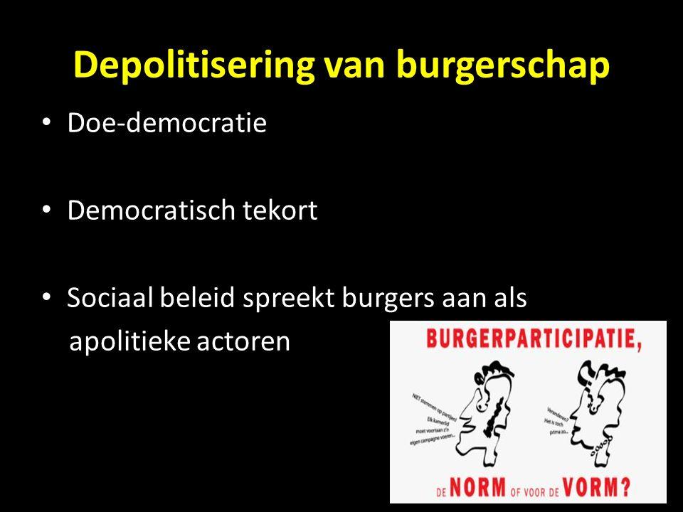 Depolitisering van burgerschap