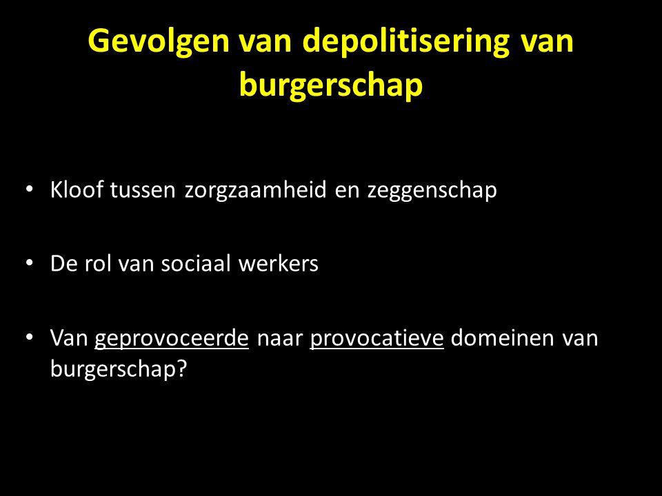 Gevolgen van depolitisering van burgerschap