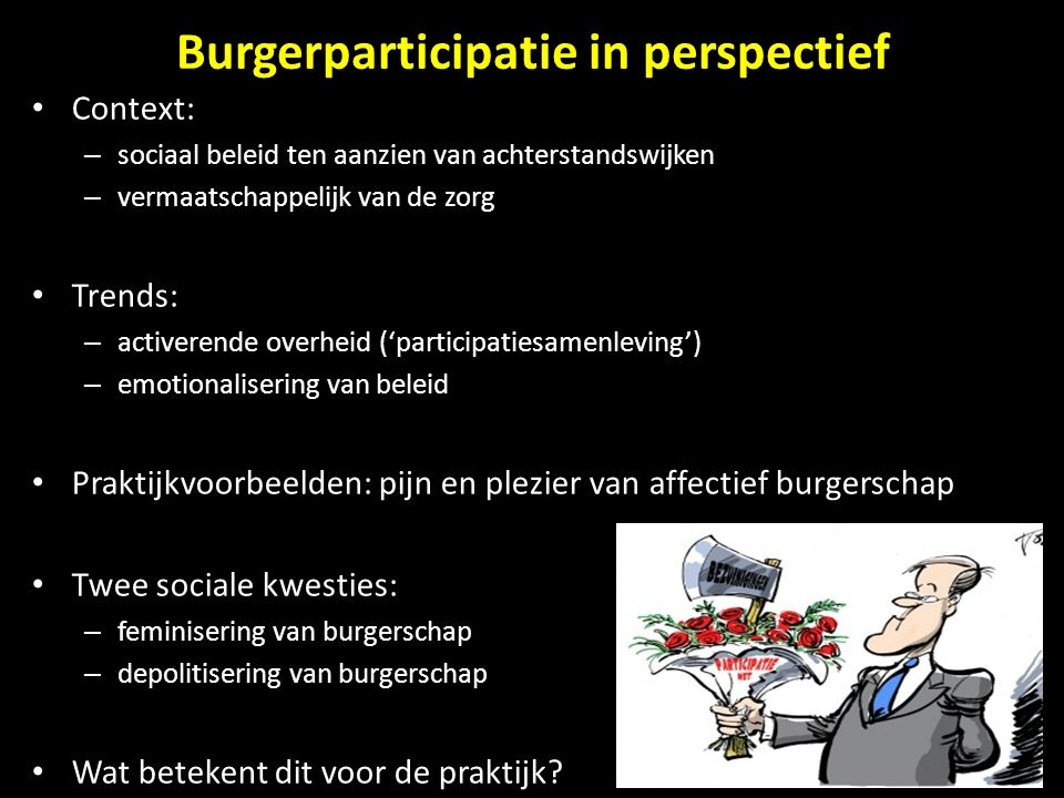Burgerparticipatie in perspectief