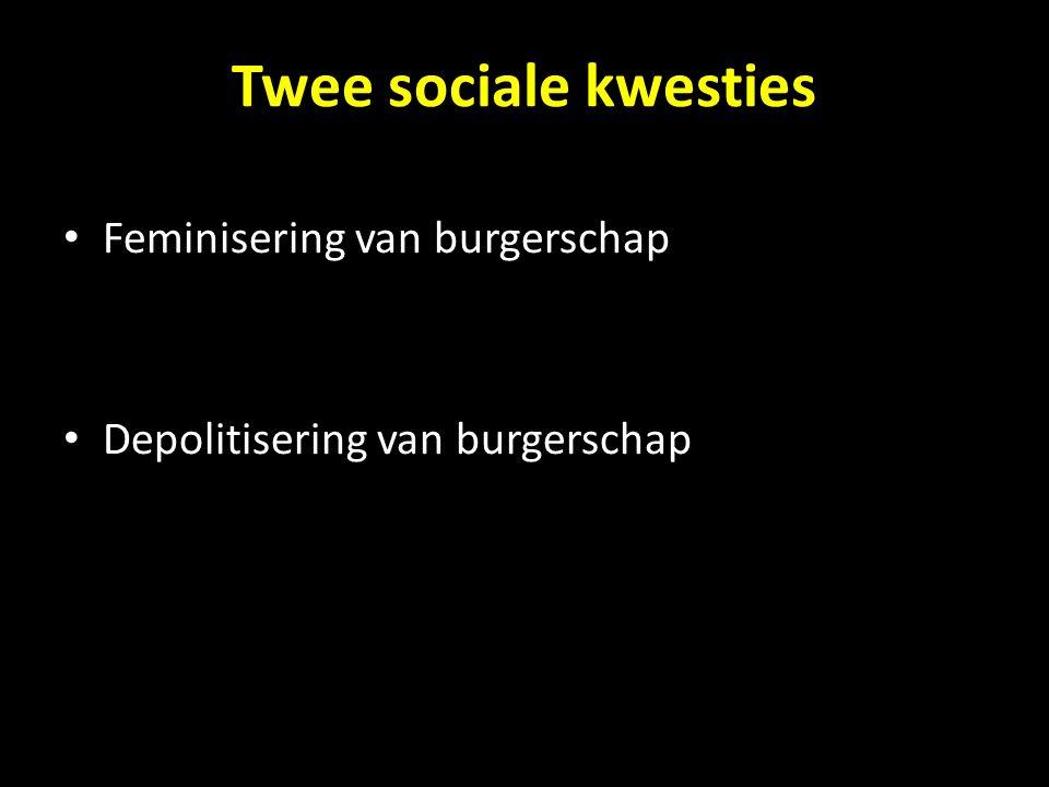 Twee sociale kwesties Feminisering van burgerschap
