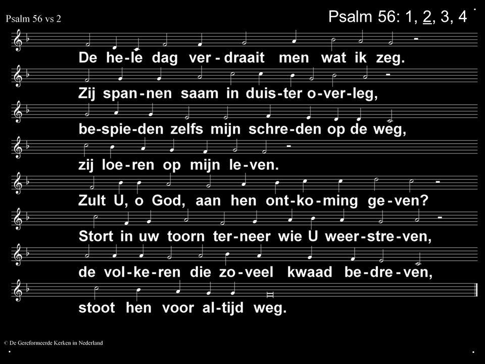 . Psalm 56: 1, 2, 3, 4 . .