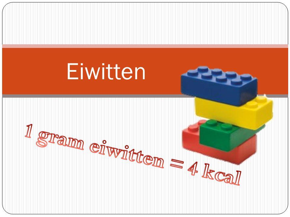Eiwitten 1 gram eiwitten = 4 kcal