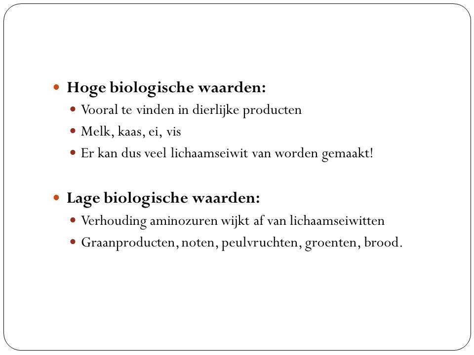 Hoge biologische waarden: