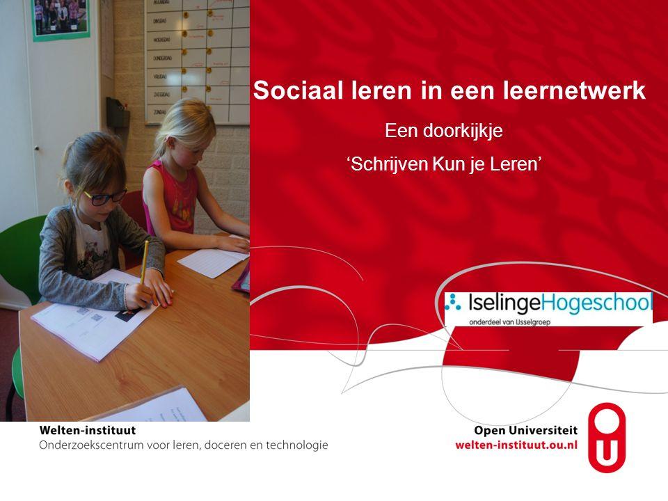 Sociaal leren in een leernetwerk