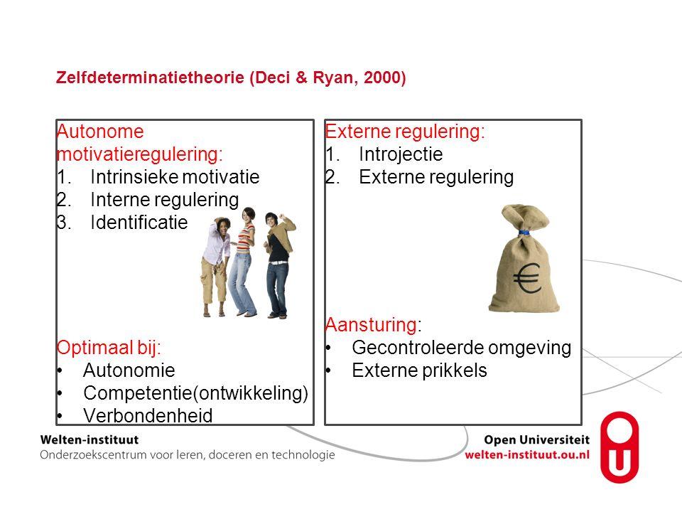 Zelfdeterminatietheorie (Deci & Ryan, 2000)