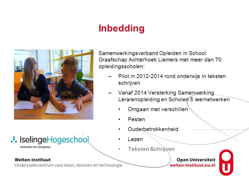 Inbedding Samenwerkingsverband Opleiden in School Graafschap Achterhoek Liemers met meer dan 70 opleidingsscholen: