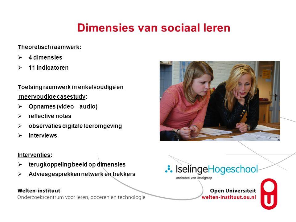 Dimensies van sociaal leren