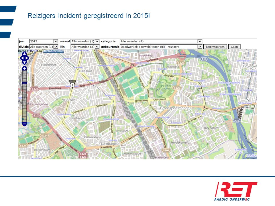 Reizigers incident geregistreerd in 2015!
