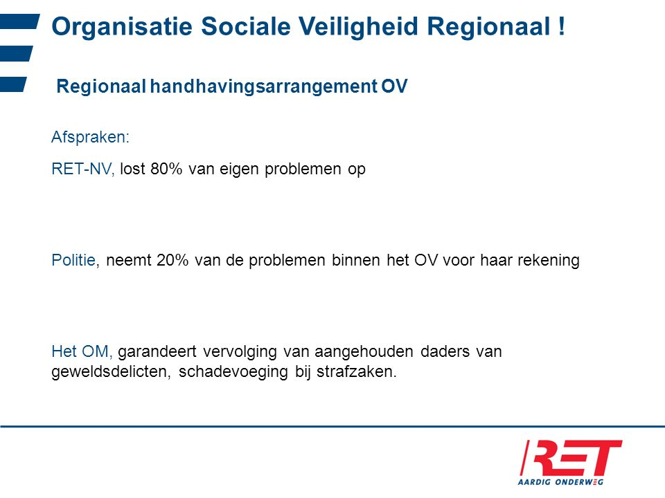 Organisatie Sociale Veiligheid Regionaal !