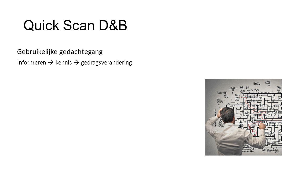 Quick Scan D&B Gebruikelijke gedachtegang